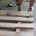 Step 2: pry off boards with hammer and crowbar