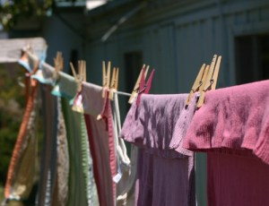 Laundry drying in the breeze; Oh the HORROR!