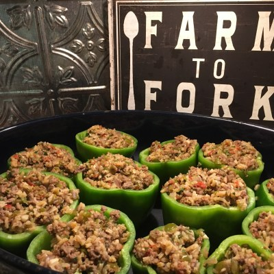 Stuffed Bell Peppers; Garden to Table Recipe