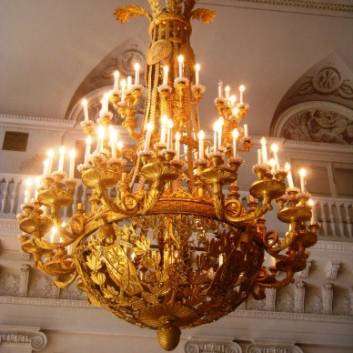 Golden Chandelier, Peterhof Palace, St. Petersburg, Russia