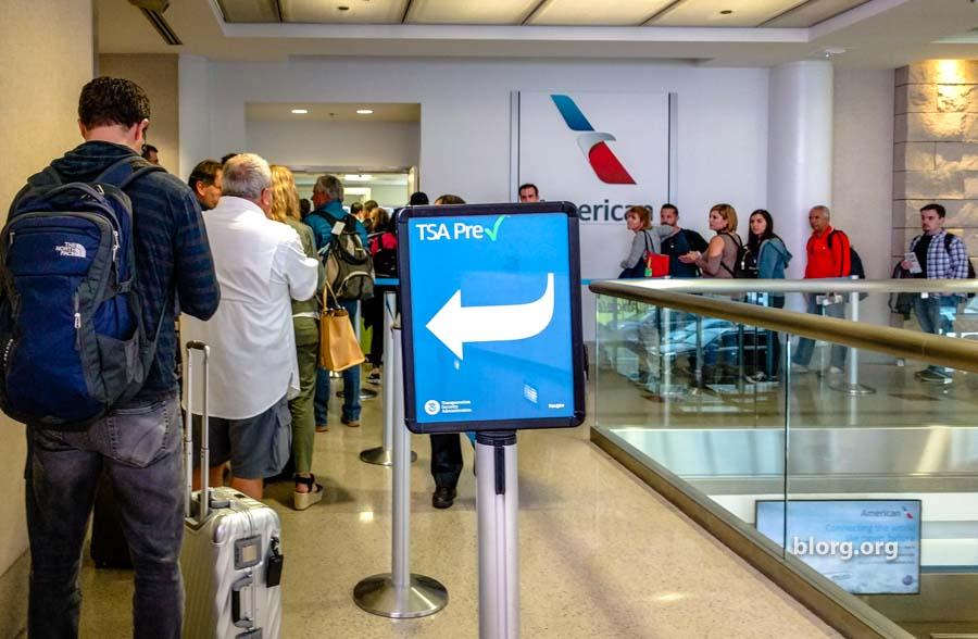 LAX TSA precheck line