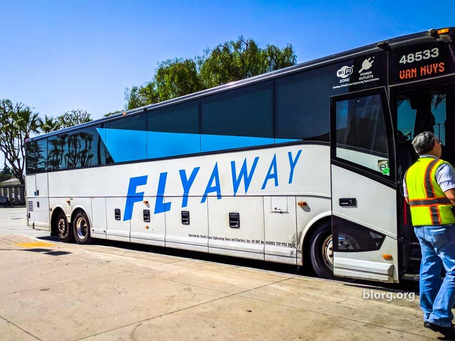van nuys flyaway BUS