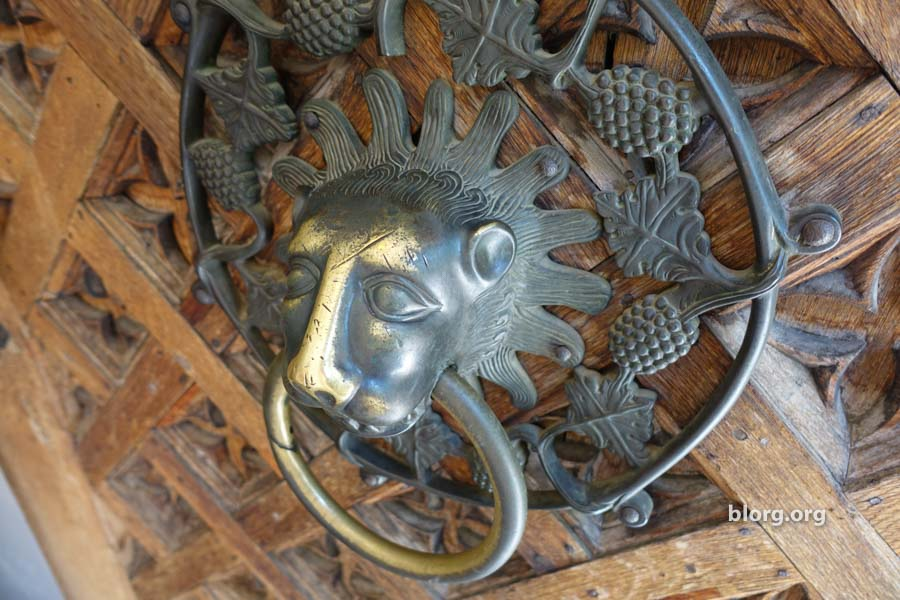 lion doorknocker
