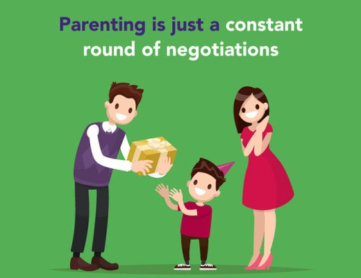 negotiating with their kids