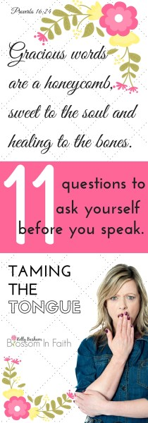 Eleven questions to ask yourself before you speak.