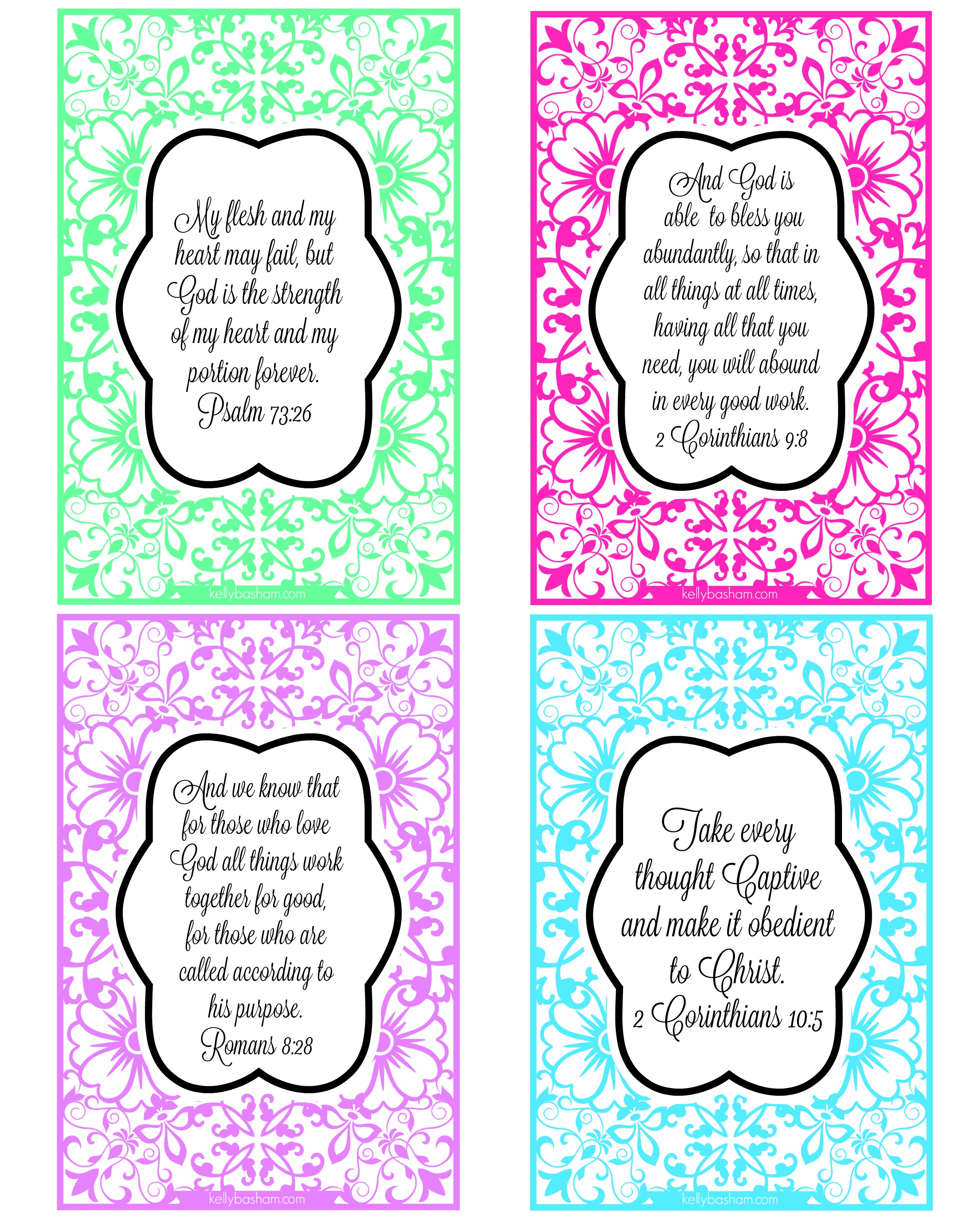 photograph about Bible Verse Cards Printable named Blossom Inside of Religion ~ Printable Scripture Playing cards