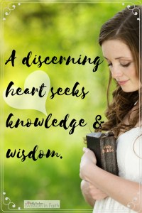 A Discerning Heart Seeks Wisdom