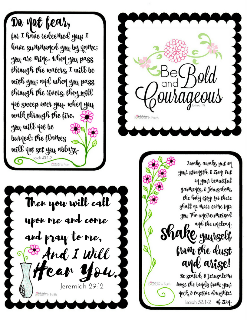 graphic relating to Printable Bible titled Blossom Inside of Religion ~ Printable Scripture Playing cards