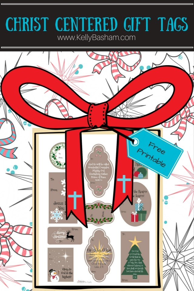 Blossom In Faith ~ Free Printable Christ Centered Christmas Gift Tags