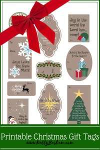 Free Printable Christ Centered Christmas gift tags. Includes quotes and scriptures.