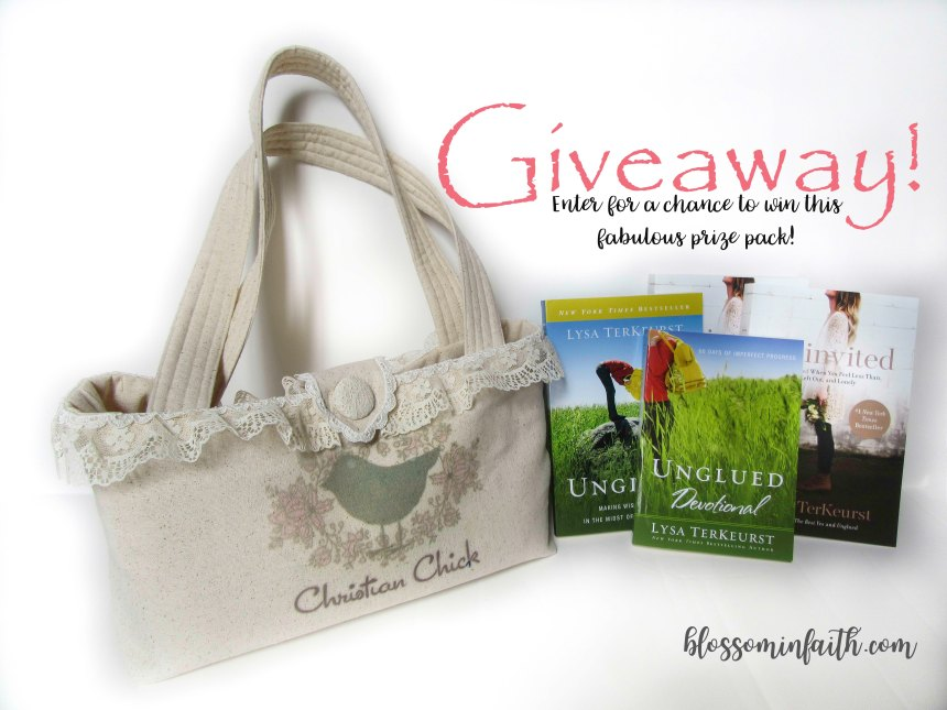 Giveaway includes a bible study bag & more