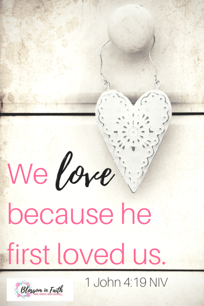 How to cultivate a heart that is willing to love like Jesus---when you're struggling... We love because he first loved us. 1 John 4:19