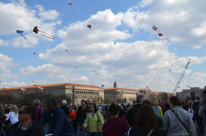 Kite festival, mid-afternoon
