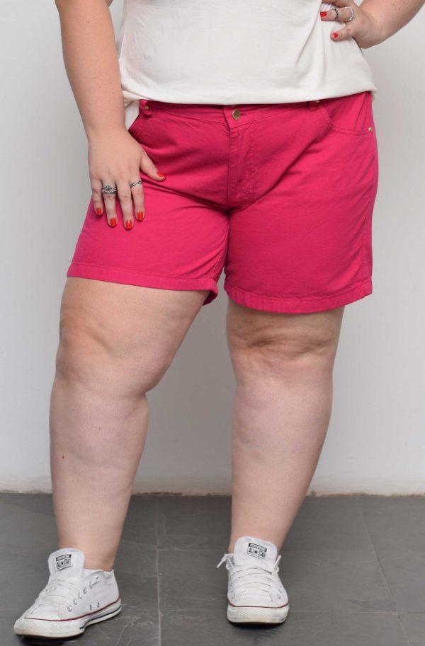 shorts-pink-faixa-blossoms-plus-size