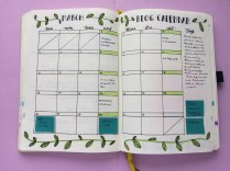 My blog calendar for March