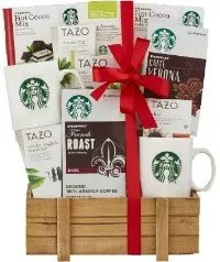 A Starbucks Coffee And Tazo Tea Variety Basket Is An Affordable Safe Gift For Your Elderly Mom Dad Because Its Practical Delicious Unlike The