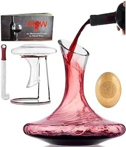 This Beautiful Wine Decanter Aerator Set Is A Lovely Classy Gift For Parents Who Have Everything The Elegance Of Curved Glass Combined With Charm