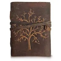 Leather Travel Gift Tree of Life Journal Christian Missionary
