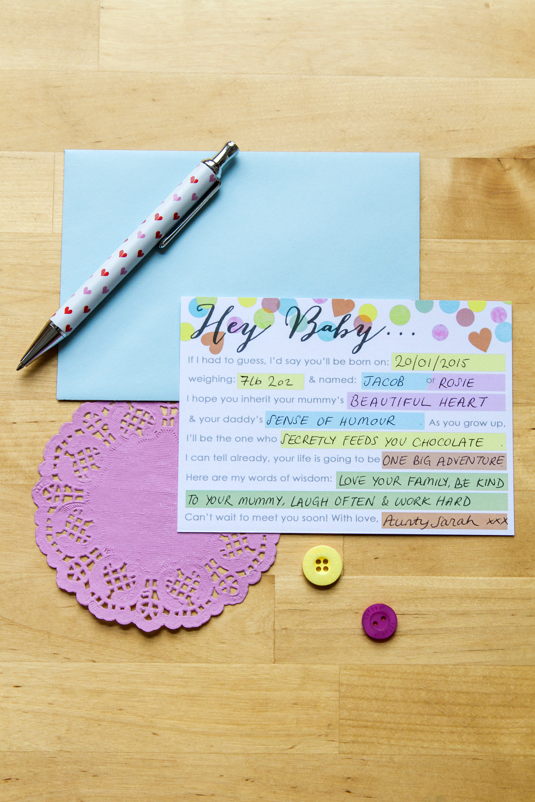Hey Baby Baby Shower Mad Lib Printable Diy
