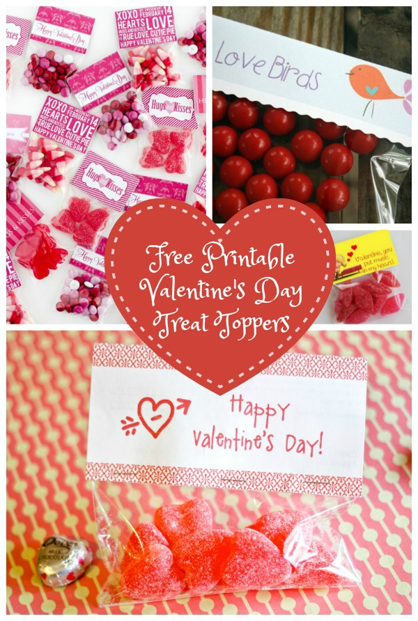 Free Printable Treat Toppers For Valentine\'s Day!