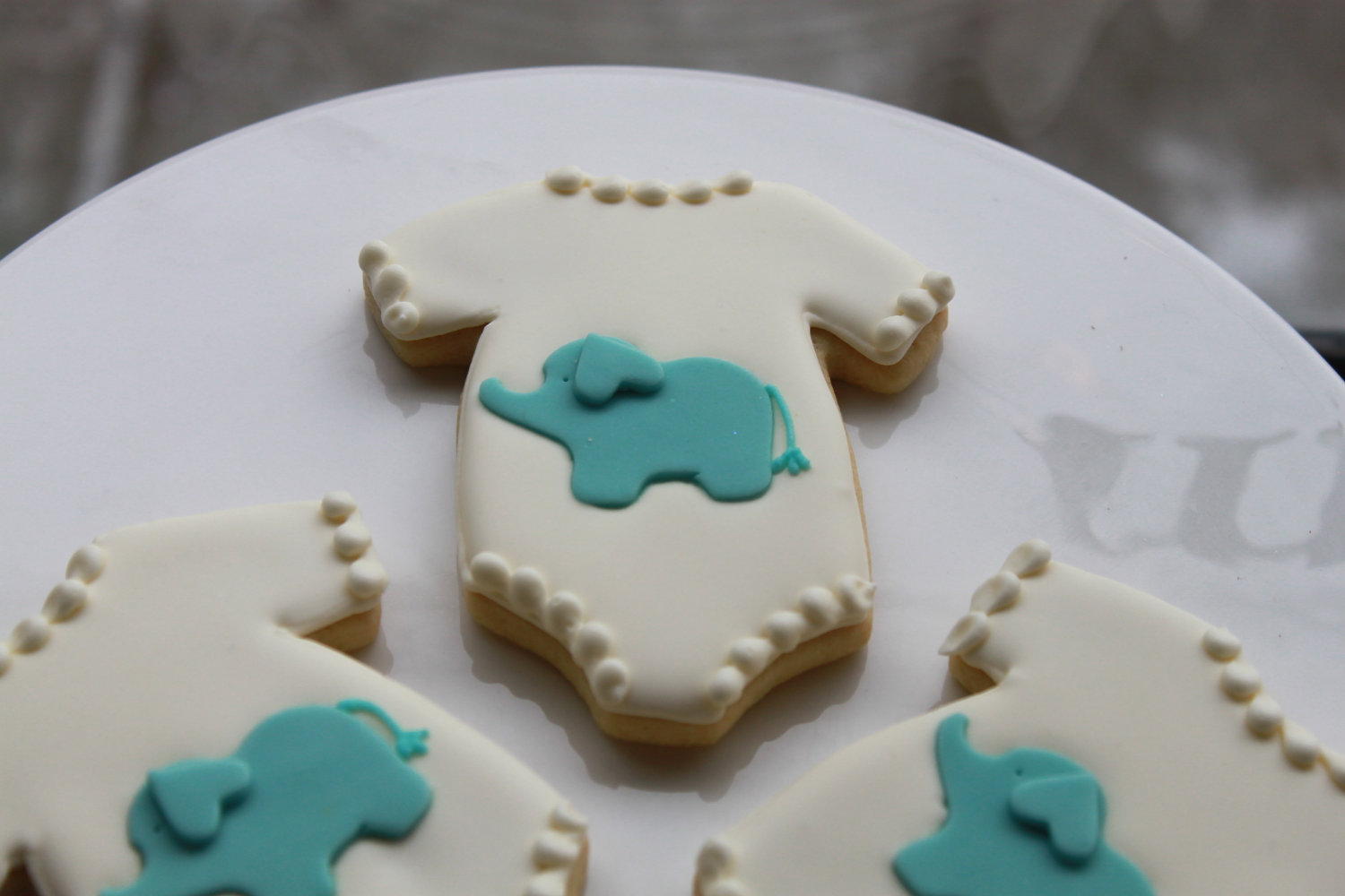 baby shower elephant onesie cookies b lovely events