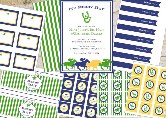 Lovely Kentucky Derby Printables!
