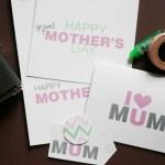 I Love you Mom! {Freebie Printable Cards For You!}