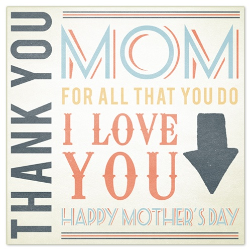Thank you mom card for mother's Day