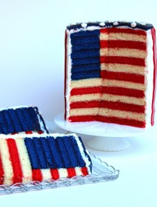 The Glorious Red, White and Blue-For Cake!