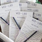 Free Wedding program mad libs