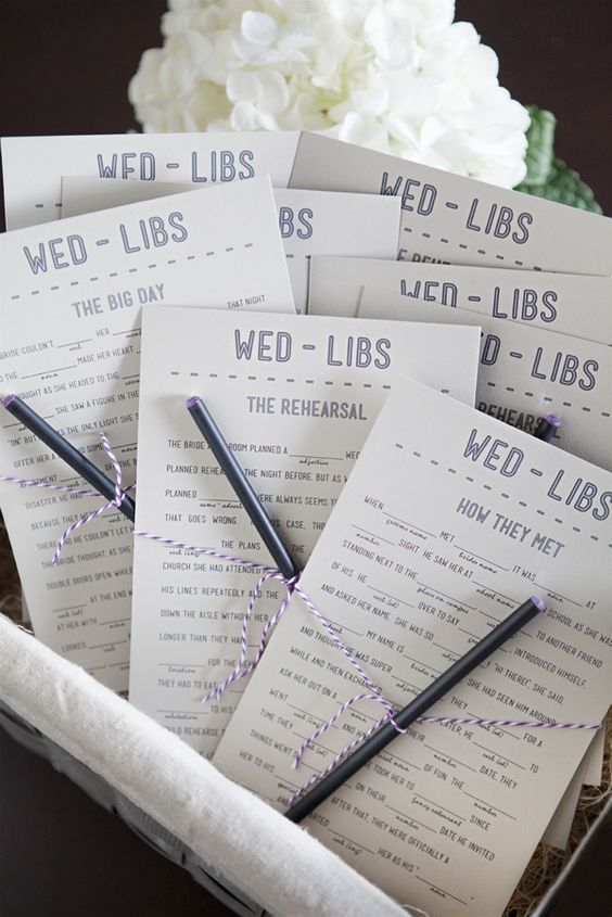 Free Wedding program mad libs