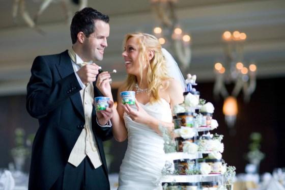 Ben and Jerrys Ice Cream wedding cake-love this!
