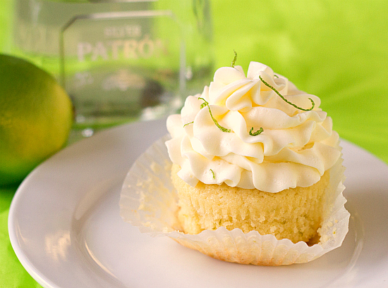 Patron Margarita Alcohol Infused  Cupcakes