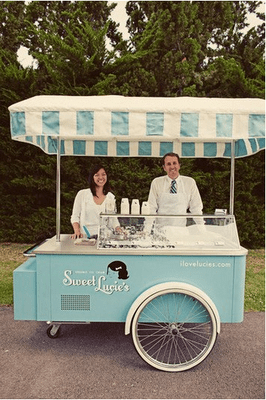 Wedding Ice Cream Cart-how cute is this