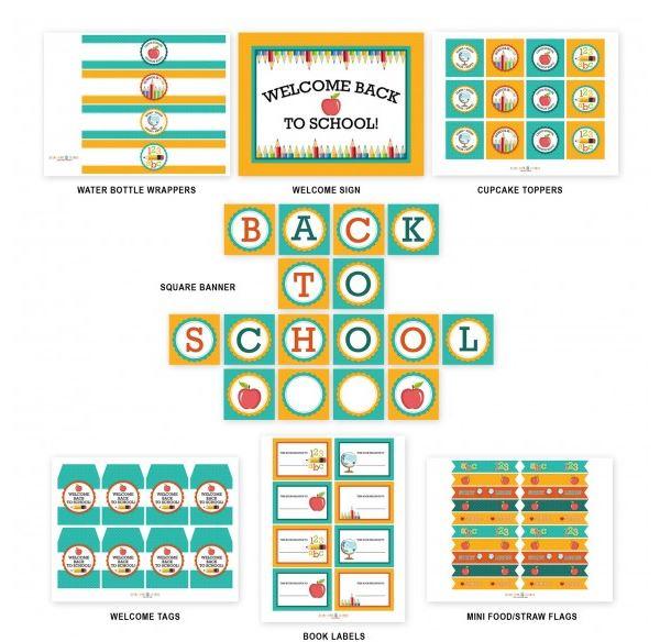 Back To School Free Printable Set!