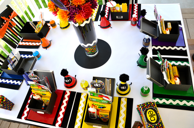 Crayola themed party-perfect for back to school!