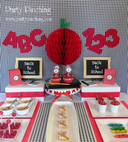 Easy and inexpensive back to school party