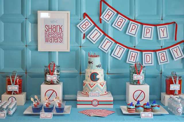 Amazingly cute Shark Birthday Party