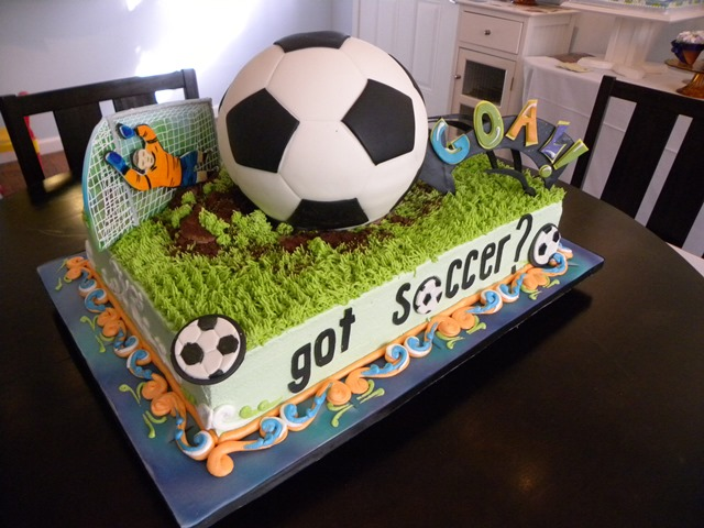 Awesome Soccer Cake for a soccer party
