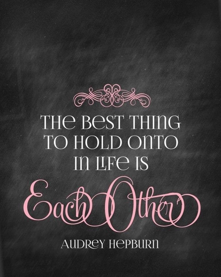 Inspirational Quote-Audrey Hepburn chalkboard printable