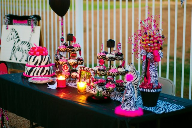 Wild Animal Print Birthday Party Supplies Decoration Ideas