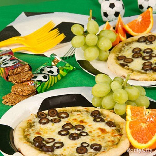 Soccer ball pizza