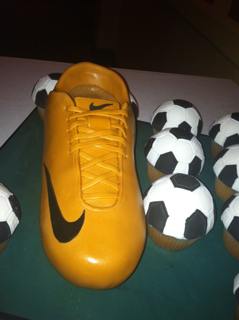 Soccer shoe cake-so amazing