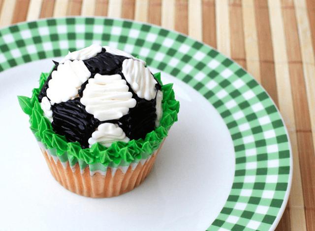 Super Cute Soccer Cupcake