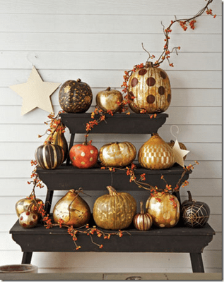 Amazing metallic pumpkins
