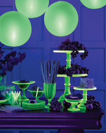 15+ glow in the dark party ideas! - b. lovely events