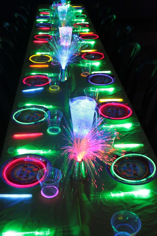 Glow In the Dark Guest Tables. See More Glow In The Dark Party Ideas On B. Lovely Events