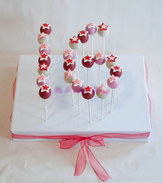 Love this Sweet 16 cake pop cake