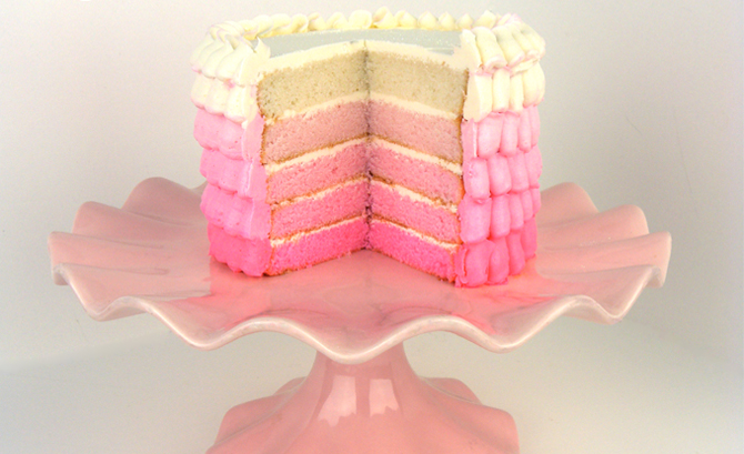 Petal Pink Ombre Cake