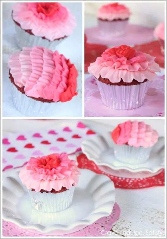 Pink Ombre ruffled Cupcakes!